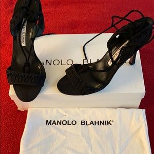 Gently used Manolo Blahniks with box and bag.